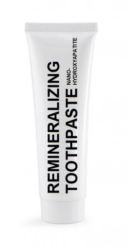 nano-hydroxyapatite remineralizing toothpaste gently cleans teeth and provides hydroxyapatite for the teeth natural enamel repair process